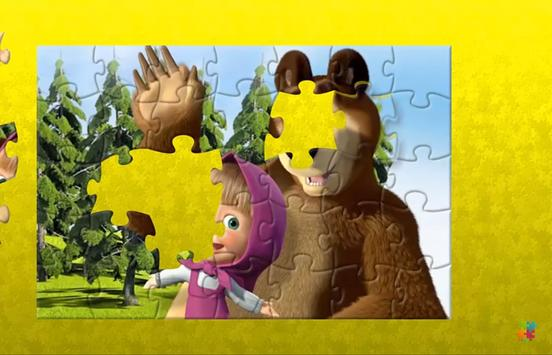 Masha Puzzle App with Bear poster