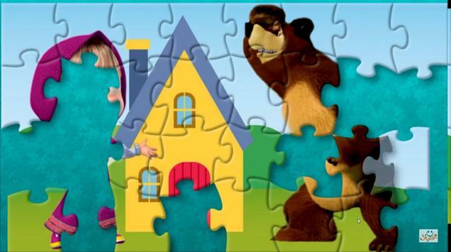 Masha Puzzle App with Bear screenshot 1