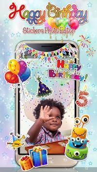 Editor de Fotos para Cumpleaños 🎉 Pegatinas Fotos Poster