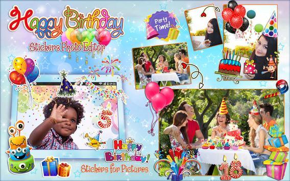 Editor de Fotos para Cumpleaños 🎉 Pegatinas Fotos captura de pantalla 10