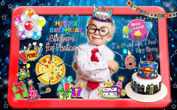 Editor de Fotos para Cumpleaños 🎉 Pegatinas Fotos captura de pantalla 11