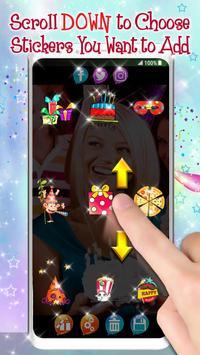 Editor de Fotos para Cumpleaños 🎉 Pegatinas Fotos captura de pantalla 1