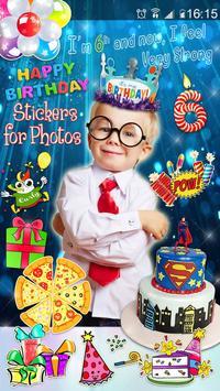 Editor de Fotos para Cumpleaños 🎉 Pegatinas Fotos captura de pantalla 2