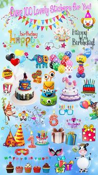 Editor de Fotos para Cumpleaños 🎉 Pegatinas Fotos captura de pantalla 4