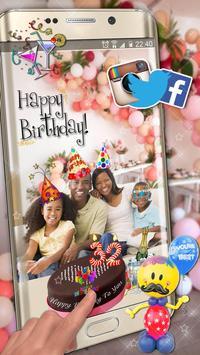 Editor de Fotos para Cumpleaños 🎉 Pegatinas Fotos captura de pantalla 6