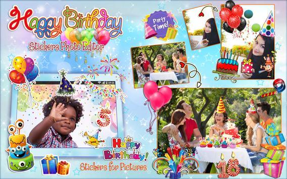 Editor de Fotos para Cumpleaños 🎉 Pegatinas Fotos captura de pantalla 7