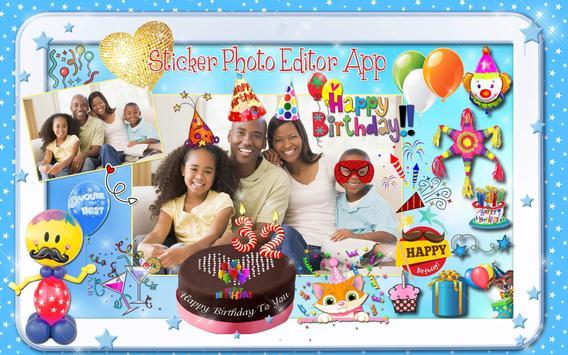 Editor de Fotos para Cumpleaños 🎉 Pegatinas Fotos captura de pantalla 9