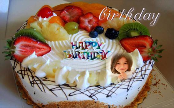 Birthday Cake Photo Frame Name Apk Screenshot