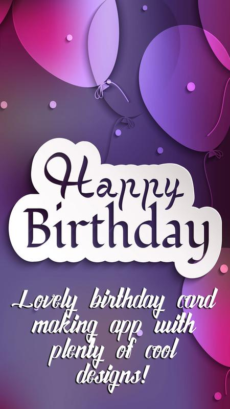 Birthday Greeting Cards Editor Poster