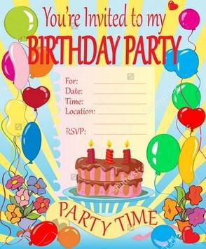 Birthday Invitation Maker apk screenshot