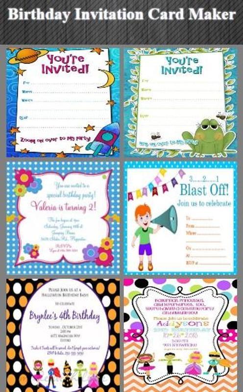 Birthday Invitation Card Maker Plakat Screenshot 1