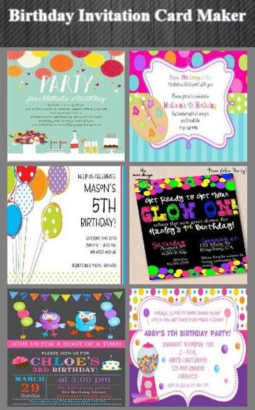 Birthday Invitation Card Maker Screenshot 2