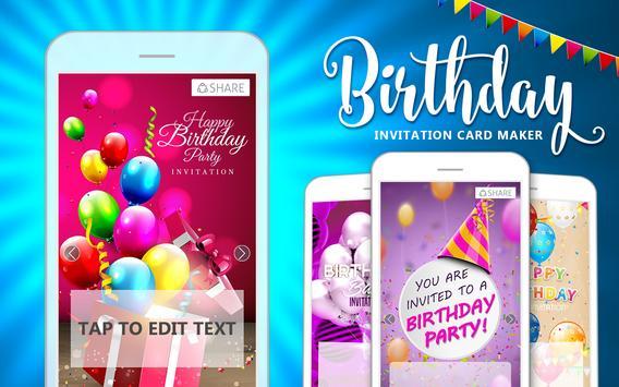 Birthday invitation card maker apk download free photography app birthday invitation card maker poster stopboris Choice Image