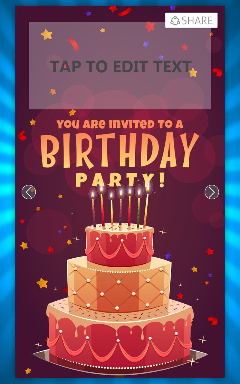 Birthday Invitation Card Maker Poster Screenshot 1