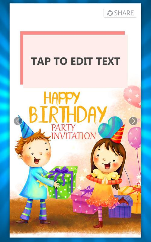 Birthday invitation card maker apk download free photography app birthday invitation card maker apk screenshot stopboris Choice Image