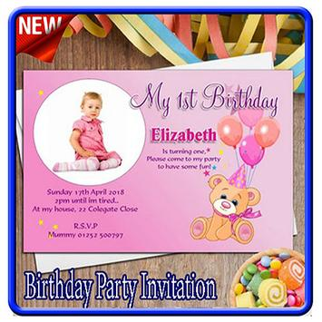 Birthday Party Invitation Card poster