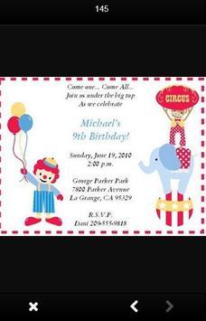 Birthday Party Invitation Card screenshot 1