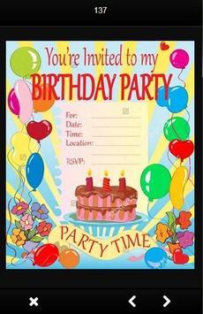 Birthday Party Invitation Card screenshot 3