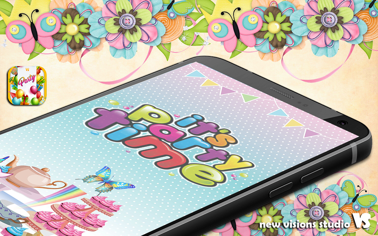 Birthday Party Invitation Cards App Poster