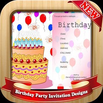 Birthday Party Invitation Designs poster