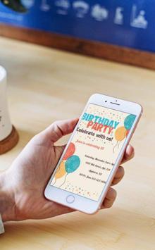 Birthday Party Invitation Designs screenshot 1