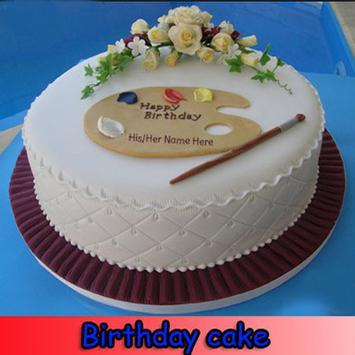 Birthday cake poster