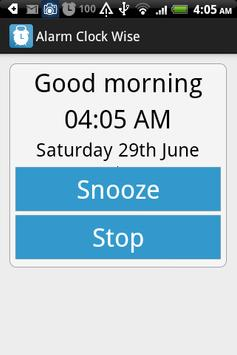 Alarm Clock Wise apk screenshot