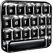 Black And White Keyboard Style icon
