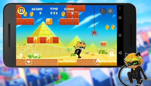 Black Cat : Sprinter Chibi 🍀 apk screenshot