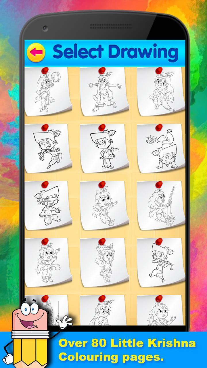 My Little Radha Krishna Coloring Book Kids Game для