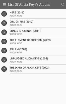 All Alicia Keys Album Songs Lyrics screenshot 1