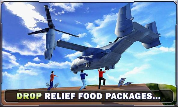 Army Helicopter - Cargo Relief poster