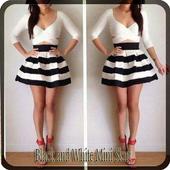 Black and White Mini Skirt icon