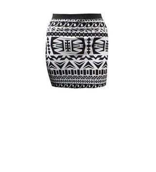Black and White Mini Skirt poster