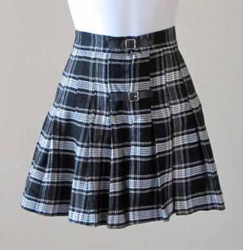Black and White Mini Skirt screenshot 1