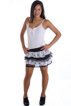 Black and White Mini Skirt screenshot 2