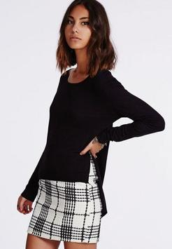 Black and White Mini Skirt screenshot 4