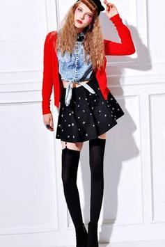 Black and White Mini Skirt screenshot 7
