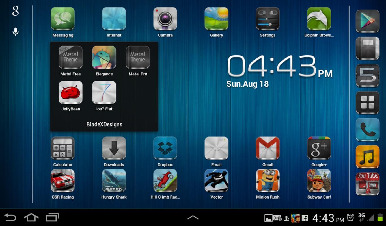 Metal FreeAPEX NOVA GO THEME Para Android APK Baixar