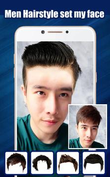 Men Hairstyle set my face poster