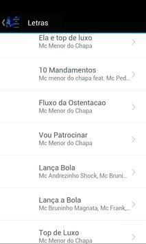MC Menor do Chapa Letras screenshot 1