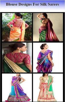 Blouse Designs For Silk Sarees poster