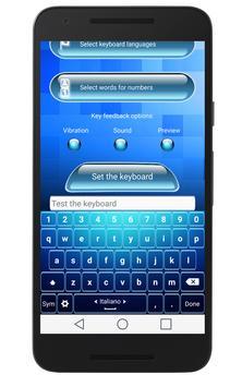 Blue Keyboard apk screenshot