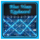 Blue Neon Keyboard icon