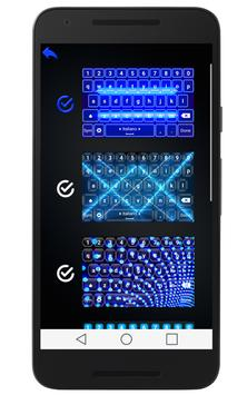 Blue Neon Keyboard apk screenshot