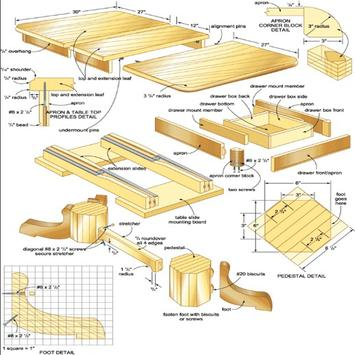Blueprints Woodworking poster