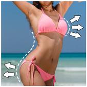 Body shape : Body retouch - Plastic surgery icon