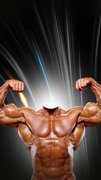 Bodybuilder Photo Montage poster