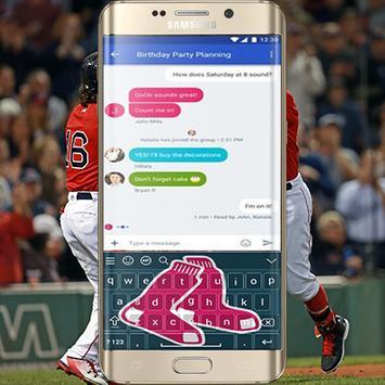 Boston Red Sox Keyboard Theme poster