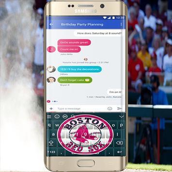 Boston Red Sox Keyboard Theme apk screenshot